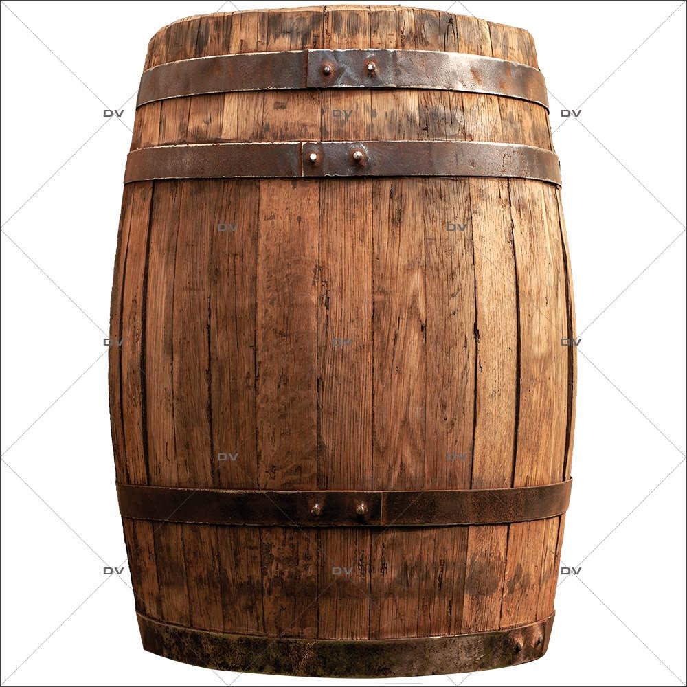 Deco Tonneau De Vin ton4 - sticker tonneau bois