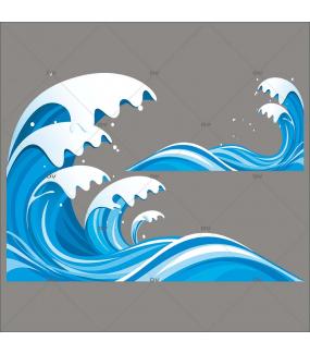 Sticker-vagues-plage-mer-vacances-été-vitrophanie-décoration-vitrine-estivale-électrostatique-sans-colle-repositionnable-réutilisable-DECO-VITRES