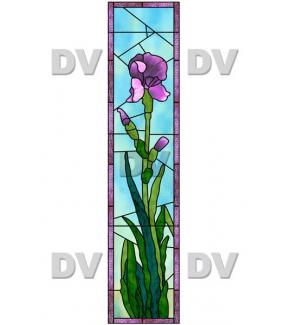 Sticker-vitrail-iris-fleurs-paysage-nature-cadre-retro-vitrophanie-électrostatique-sans-colle-repositionnable-réutilisable-ou-adhésif-décoration-fenêtres-vitres-DECO-VITRES