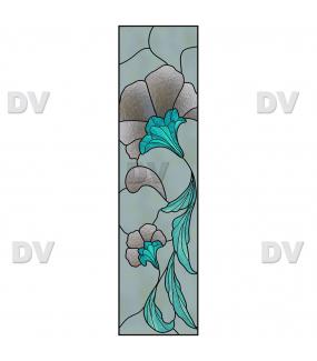 Sticker-vitrail-art-deco-retro-vintage-liserons-fleurs-vitrophanie-électrostatique-sans-colle-repositionnable-réutilisable-ou-adhésif-décoration-fenêtres-vitres-DECO-VITRES