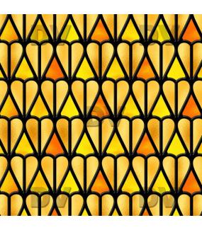 Sticker-vitrail-géométrique-jaune-vitrophanie-électrostatique-sans-colle-repositionnable-réutilisable-ou-adhésif-décoration-fenêtres-vitres-DECO-VITRES