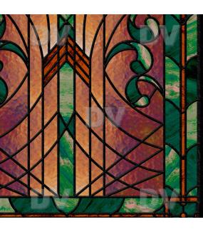 Sticker-vitrail-art-deco-retro-vintage-vitrophanie-électrostatique-sans-colle-repositionnable-réutilisable-ou-adhésif-décoration-fenêtres-vitres-DECO-VITRES