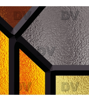Sticker-vitrail-géométrique-marron-art-deco-ancien-vintage-retro-vitrophanie-électrostatique-sans-colle-repositionnable-réutilisable-ou-adhésif-décoration-fenêtres-vitres-DECO-VITRES