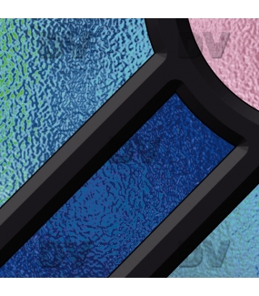 Sticker-vitrail-géométrique-bleu-rose-ancien-vintage-retro-vitrophanie-électrostatique-sans-colle-repositionnable-réutilisable-ou-adhésif-décoration-fenêtres-vitres-DECO-VITRES