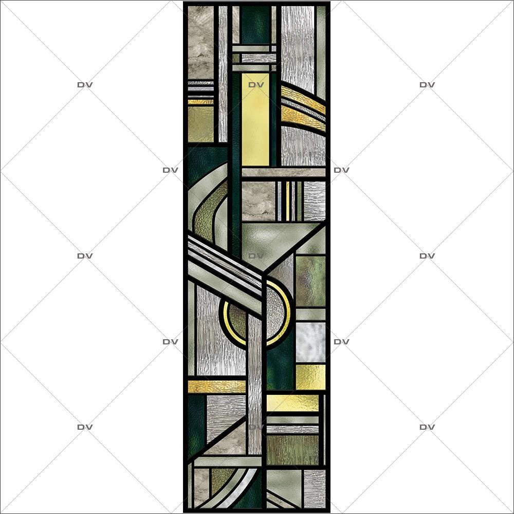 Sticker-vitrail-art-deco-retro-vintage-géométrique-vitrophanie-électrostatique-sans-colle-repositionnable-réutilisable-ou-adhésif-décoration-fenêtres-vitres-DECO-VITRES