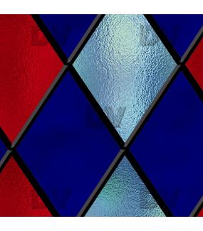 Sticker-vitrail-géométrique-losanges-bleu-rouge-ancien-vintage-retro-vitrophanie-électrostatique-sans-colle-repositionnable-réutilisable-ou-adhésif-décoration-fenêtres-vitres-DECO-VITRES