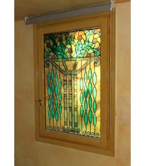Sticker-vitrail-art-deco-retro-vintage-fleurs-vitrophanie-électrostatique-sans-colle-repositionnable-réutilisable-ou-adhésif-décoration-fenêtres-vitres-DECO-VITRES