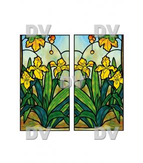VITP1405 - Lot de 2 stickers vitraux personnalisés
