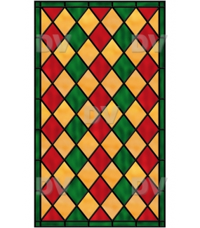 VITP1407 - Sticker vitrail géometrique personnalisé