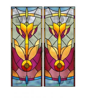 VITP1411 - Lot de 2 stickers vitraux personnalisés