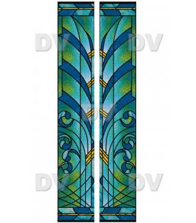 VITP1424 - Lot de 2 stickers vitrail personnalisés