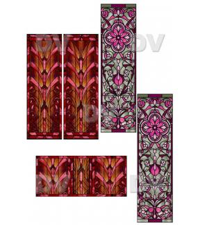VITP1430 - Lot de 5 stickers vitraux personnalisés