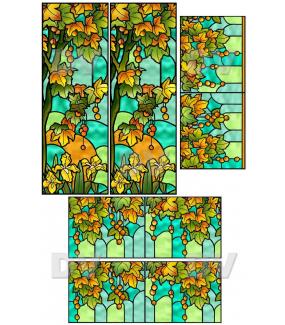 VITP1442 - Lot de 5 stickers vitraux formats personnalisés