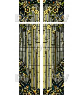 VITP1446 - Lot de 2 stickers vitrail format personnalisé