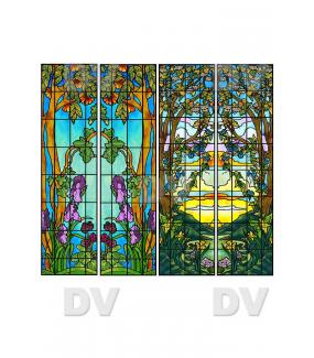 VITP1456 - Lot de 4 stickers vitraux personnalisés