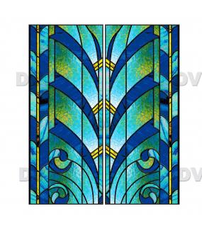 VITP1512 - Lot de 2 stickers vitrail format personnalisé