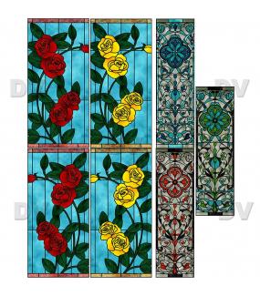 VITP1517 - Lot de 7 stickers vitrail formats personnalisés