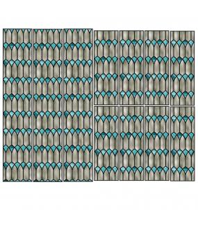 VITP1637 - Lot de 11 stickers vitraux format personnalisé