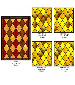 VITP1643 - Lot de 58 stickers vitraux format personnalisé