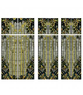 VITP1647 - Lot de 12 stickers vitraux formats personnalisés