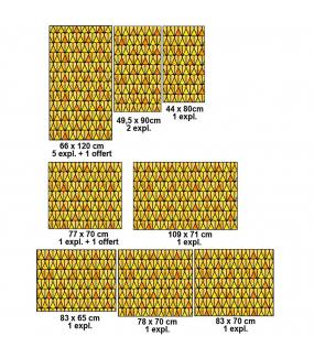 VITP1648 - Lot de 15 stickers vitraux formats personnalisés