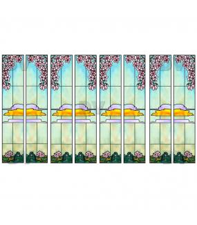 VITP1683 - Lot de 8 stickers vitraux formats personnalisés