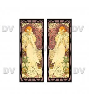 VITP1696- Lot de 2 stickers vitraux formats personnalisés