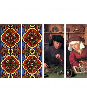 VITP1708 - Lot de 4 stickers vitraux format personnalisé