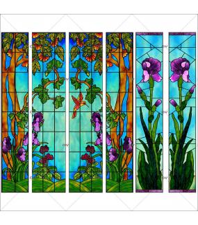 VITP1737 - Lot de 6 stickers vitraux personnalisés