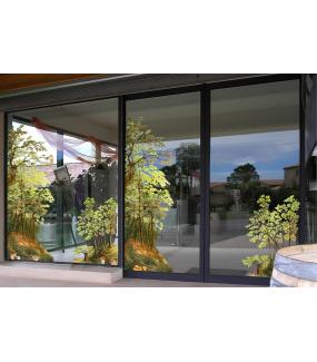 Sticker-géant-sous-bois-automne-arbres-vitrophanie-décoration-vitrine-automnale-électrostatique-sans-colle-repositionnable-réutilisable-DECO-VITRES