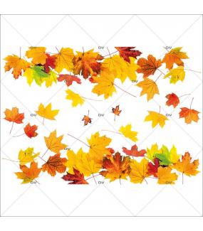 Sticker-frises-feuilles-mortes-d-automne-érable-vitrophanie-décoration-vitrine-automnale-électrostatique-sans-colle-repositionnable-réutilisable-DECO-VITRES