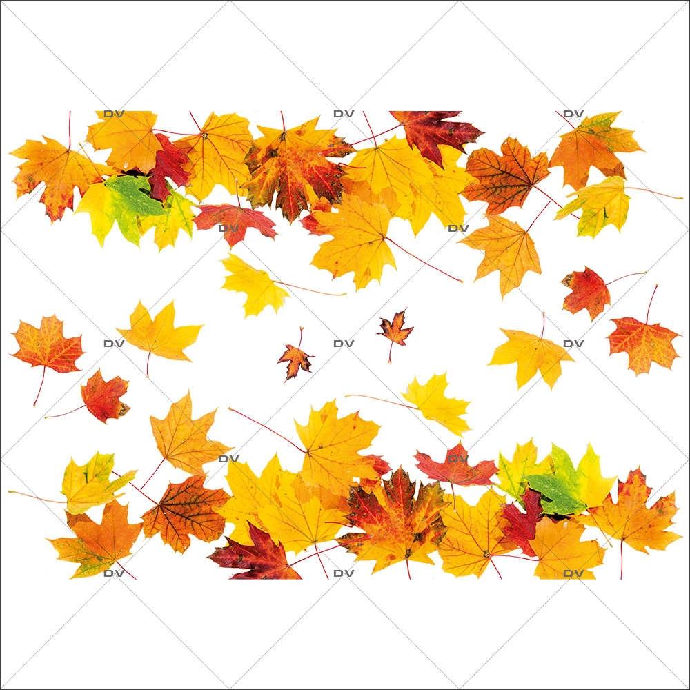 Deco D Automne Facile aut8 - sticker frises de feuilles d'automne - deco-vitres -vitrophanie